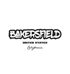 united states bakersfield california city vector image