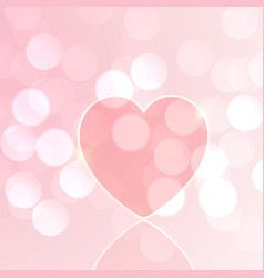 valentines day heart bokeh vector image