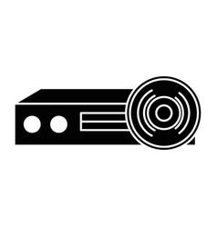 video beam projector icon vector image