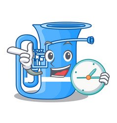 With clock tuba isolated with in the character vector