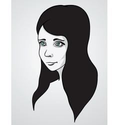 Beautiful woman portrair vector image vector image
