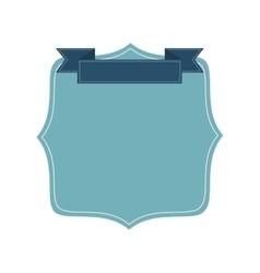 blue badge icon vector image