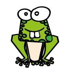 cute toad funny character vector image