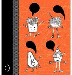 Food cartoons vector image