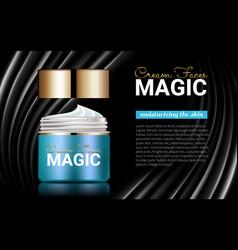 moisturizer facial cream splendid poster ads vector image vector image
