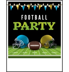 American Football Party Poster vector image vector image