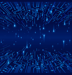 cyberspace concept of a futuristic background vector image