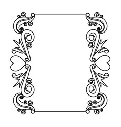 decorative card romantic frame floral border cute vector image