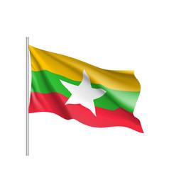 union of myanmar or burma flag vector image