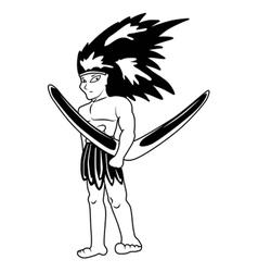 Aboriginal cartoon vector image vector image