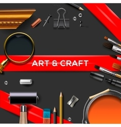 Art and crafts template vector image vector image