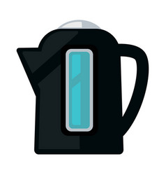 black colored kettle vector image vector image