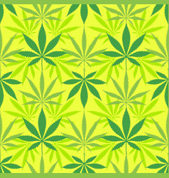 Cannabis marijuana leaves seamless pattern vector