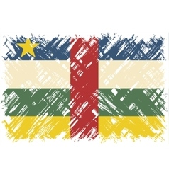 Central African Republic grunge flag vector image vector image