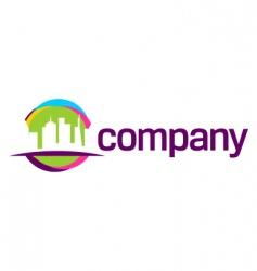 city travel logo vector image vector image