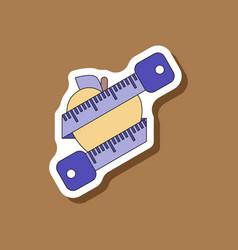 Paper sticker on stylish background logo diet vector