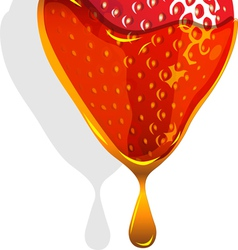 strawberry caramel background vector image vector image