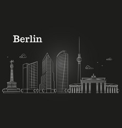 germany berlin line landscape city vector image vector image