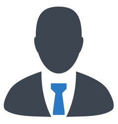 manager flat icon vector image