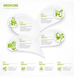 medical green infographic vector image vector image
