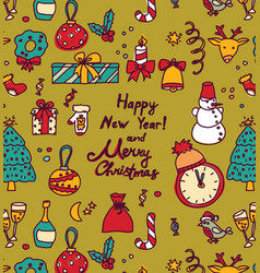new year christmas greeting cards frame vector image