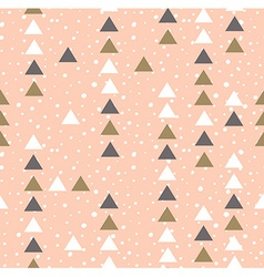 Pink hipster geometrical seamless pattern vector image vector image