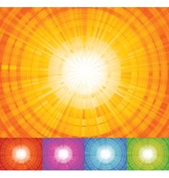 sunbeam background vector image vector image
