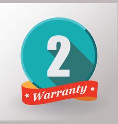 2 warranty label vector