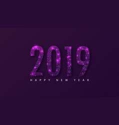 2019 happy new year background with colored vector image