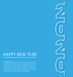 2020 happy new year background template minimal vector