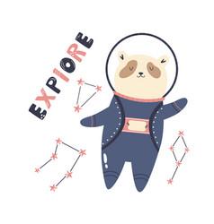 a funny panda astronaut vector image