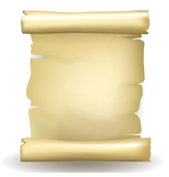 Ancient blank aged worn paper scroll vector