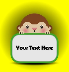 baby monkey with place your text here vector image