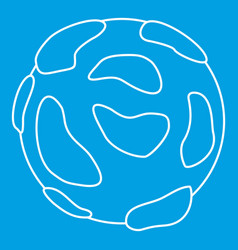 beautiful planet icon outline style vector image vector image
