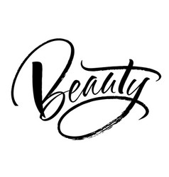 Beauty lettering vector