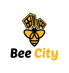 Bee logo template icon vector