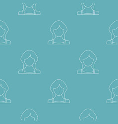 best woman user pattern seamless vector image