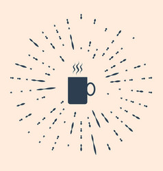 Black coffee cup flat icon isolated on beige vector