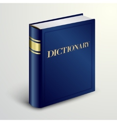 Blue dictionary book vector