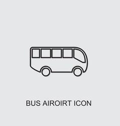 Bus airoirt icon vector