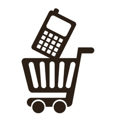 Cart shopping commerce isolated icon vector