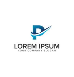 cative modern letter p logo design concept vector image