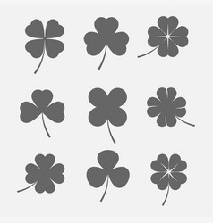 Clover leaves icon vector