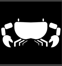 Crab the white color icon vector