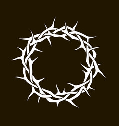 crown thorns image vector image