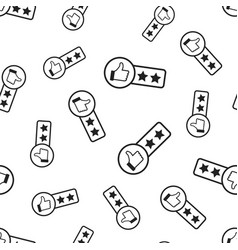 Customer review 2 stars seamless pattern vector