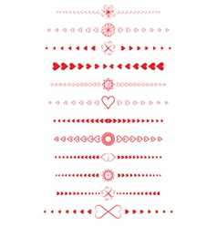 design elements made of valentines vector image