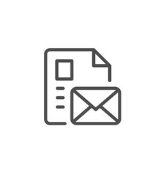 document message line icon vector image