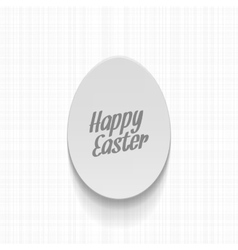 Easter realistic paper Egg Label with Text vector image