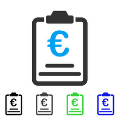 Euro prices flat icon vector